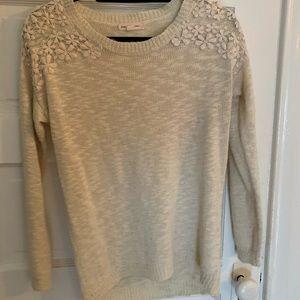 Thin cream sweater